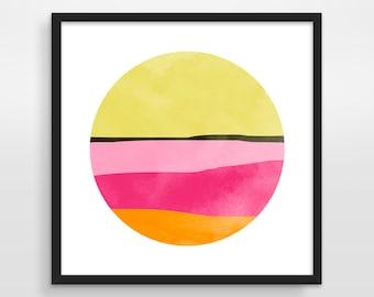 Large Pink Abstract Art, Large Wall Art Print, Mid Century Wall Art, Modern Art Print, Minimalist Art, Square Art, Limited Edition Print