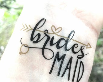 Bachelorette Party Favor - Bridesmaid Gift - Bachelorette Tattoo - Bachelorette Favor - Bridesmaid Tattoo - Will You Be My Bridesmaid Gift