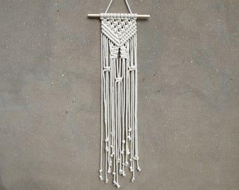 Small macrame wall hanging Woven wall hanging Weaving wall decor
