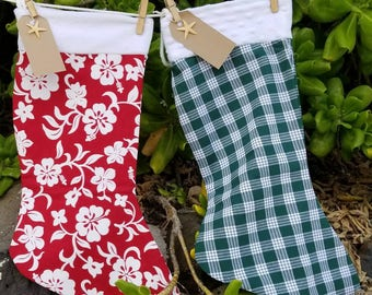 Jumbo Hawaiian print Christmas Stockings