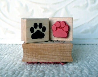 Paw Print rubber stamp from oldislandstamps