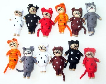 Worry Cat Doll Craft Supplies