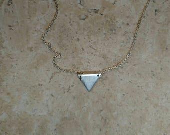 Triangle pendant, Argentium silver