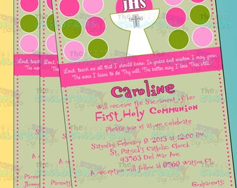 First Holy Communion / Religious Invitations - Girl 2
