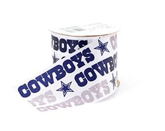 "2.5"" NFL Dallas Cowboys Ribbon, 9 foot spool, Licensed NFL Offray Ribbon"