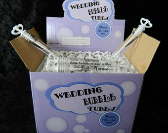 Wedding Bubble Tubes (box 48) with free personalised labels