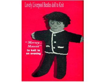 "Vintage 10"" Beatle Doll to Knit in DK yarn Knitting Pattern pdf.file download"