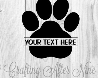 Paw Print SVG Cut Files, Seperated Paw Print SVG, Screen Printing, PNG Cut File for Silhouette, Die Cut Machines, & Cricut Explore