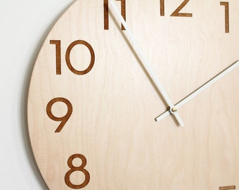 14 inch large modern wall clock