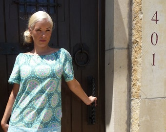 Boatneck DRESS or TOP - Shortsleeved - Amy Butler - Love - Made in any Size - Boutique Mia by CXV