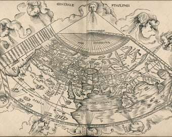 Poster, Many Sizes Available; Ptolemy Map Of The World 1513 P10