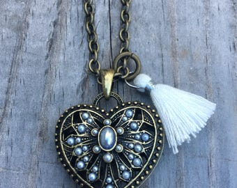 Heart with Tassle Necklace