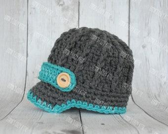 Baby boy hats, baby boy hat, newborn newsboy baby boy hat, crochet baby hat, baby newsboy hat, coming home outfit, newborn photo prop