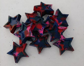 multi color star shaped crayons