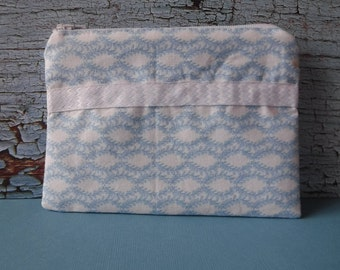 Blue Leaf Print - Tampon Pouch - Blue Leaf Fabric - Tampon Holder - Tampon Case - Toiletry Bag - Women Toiletry Bag - Sanitary Pad Holder