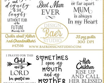Mother Quotes:Grandmother Quotes, Digital Word Art, Scrapbooking Quotes, Mother's Day Quotes, Digital Stamps, Bible Verses Mothers, #42516