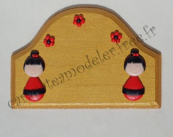 Little girls gold and red door sign