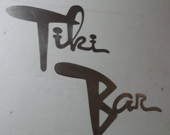 Tiki Bar Retro Mid Century - Metal Sign   T10