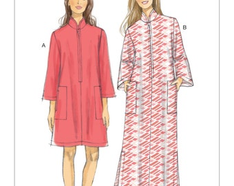 Vogue Pattern V9232 Misses' Zip-Front, Dolman Sleeve Caftans