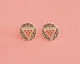 Watermelon Earrings // Geometric Earrings // Graphic Earrings // Tropical Earrings // Shrink Plastic // Memphis Inspired