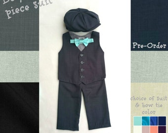 Baby Boy Suit, Toddler Suit, Baby Suit, Ring Bearer Suit, Infant Suit, Newsboy Outfit, Ring Bearer Outfit, Boy Christening Outfit, Page Boy