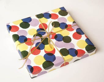 Polka Dots Wrapping Paper,Wedding Gift Wrap,Dots Wrapping Sheets,Holiday Gift Wrap