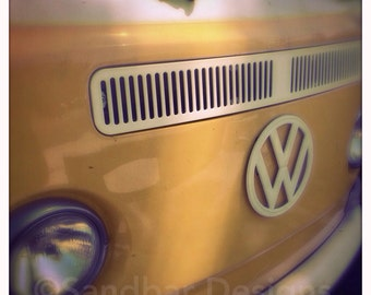 4 x 4 photo card-Mustard VW bus