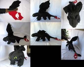 Toothless Custom Plush from How To Train Your Dragon