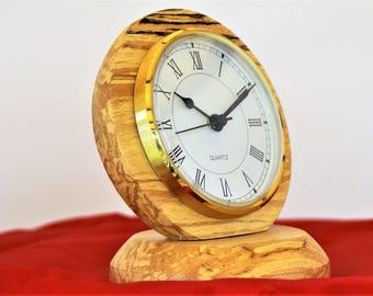 Mantel Clock, spalted beech