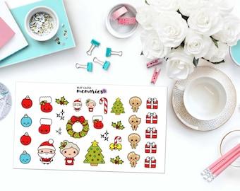 KAWAII CHRISTMAS Paper Planner Stickers!