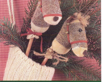 Rodney the Reindeer Kit by Indygo Junction, Inc Mini Monkey Sock Miniature Sock Reindeer Includes Miniature Sock