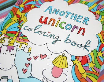 Now Available! Another Unicorn Coloring Book, for Grown-Ups and Kids of all Ages