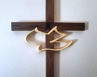 Handmade Cross with Dove