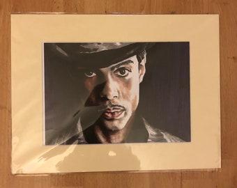 Prince mounted print of original portrait