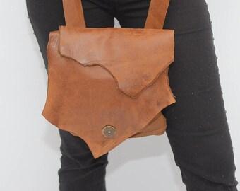 Brown Leather Crossbody Purse, Over The Shoulder Bag, Soft Leather Handbag, Handbag For Women, Boho Bag, Crossbody Handbag