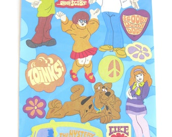 Retro Scooby Dooby Doo and friends Sandylion stickers - 1 sheet - 17 stickers