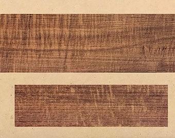 "Australian Ringed Gidgee ""Acacia cambagei"" 335mm x 55mm x 7mm Mandolin or Ukulele Fretboard and matching 140mm x 35mm x 10mm Bridge."