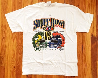 Vintage T-Shirt / 90s T-Shirt / 90s Super Bowl - 1998 SuperBowl / Denver Broncos vs Green Bay Packers / Vintage Super Bowl Shirt