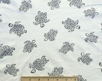 Abstract Turtles Print Cotton Jersey
