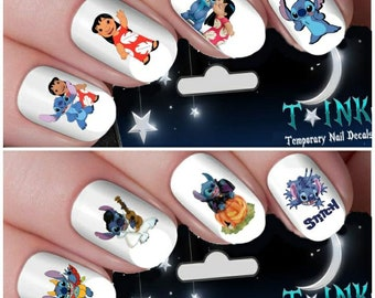 Lilo & Stitch double pack assortment Nail Art Wraps Water Transfers Nails Decals Nail Stickers