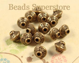 7 mm x 6 mm Antique Copper Spacer Bead - Nickel Free, Lead Free and Cadmium Free - 20 pcs