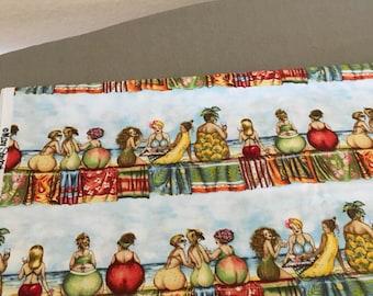 Fruit lady by Elizabeth Studio Fabric 1 1/4 yard