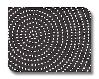 Black dot paper napkin for decoupage x 1. Black Spiral. No 1140