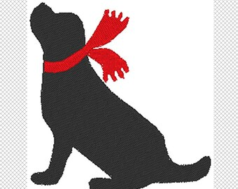 Dog Silhouette - Lab - Embroidery Design File - Instant Download - 5 x 7 hoop