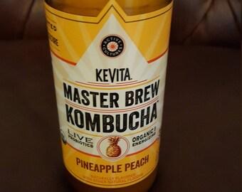 Custom Soy Candle in Recycled Kombucha Bottle