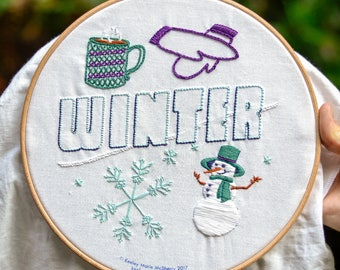 Winter Embroidery Kit