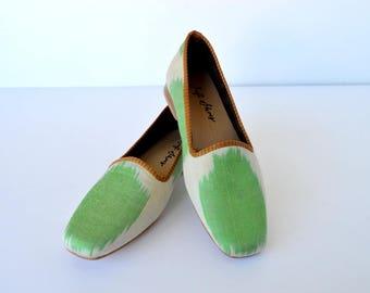 Women ikat fabric shoes - 37 euro size
