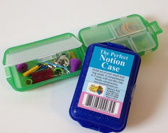 Nancy's Knit Knacks, The Perfect Notion Case, Small Plastic Case with Compartments