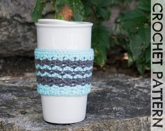 CROCHET PATTERN: Timberline Coffee Cup Cozy