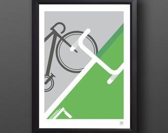 Cycling Poster, Abstract Tour de France Print - SPRINTER